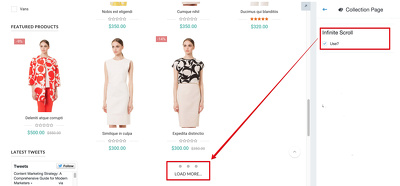 add infinite scroll to shopify collections page