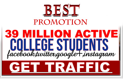 Promote Your Website Or Anything To 39,000,000 USA College Student +Screenshots proof