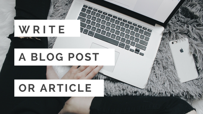 Write a 400-word blog post or article