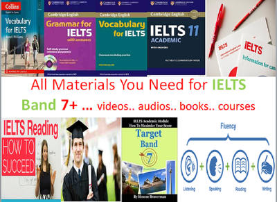 Provide You all study Material you need for IELTS to get Band 8