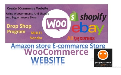 Do  Create ECommerce Website Using Woocommerce And Shopify And Bigcommerce Store