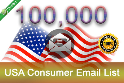 Give you 100K USA Consumer Email Lists