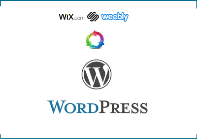 convert your wix/weebly/squarespace website into Wordpress
