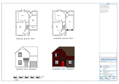 Produce cad drawings of floors plans and elevations for planning applications