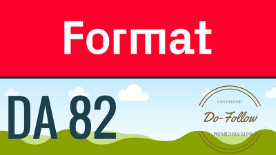 Get you a Dofollow guest post on Format Format.com (DA 82)