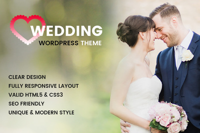 Professional Wordpress Wedding/Celebrations Website