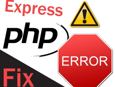 Fix any bug in php web development.