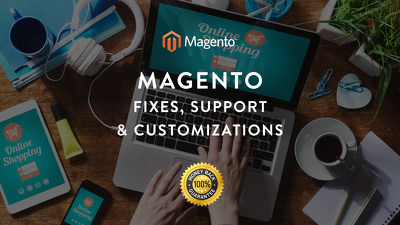 Provide 1 hour of Magento Fixes, Support, Design & Customizations