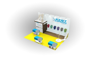 Design and visualise your exhibition stand max. 25sq m