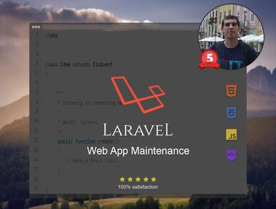 Make Laravel Web App Maintenance 1 hour