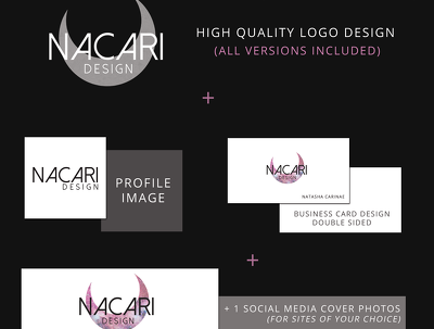Design a high-quality logo, my package also includes social media content!