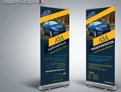 Design Panaflex standee (2.5x5 inch) with Beautifull colours