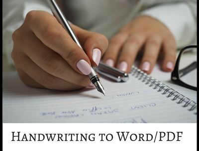 Convert 20 pages of handwritten notes to PDF