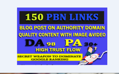 Build 160 PBN Link With High Trust Flow and high DA
