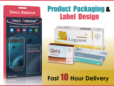 Do Product Packaging & Label Design ( Vector Print Ready ) within 10 hour