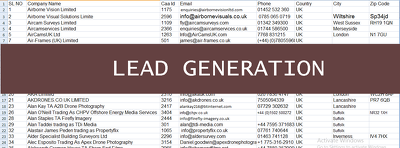 Generate 100 authentic and actaul leads with contact information