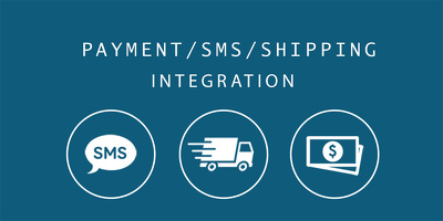 Integrate Payment/SMS/Shipping Gateways on your Store