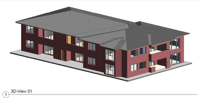 Deliver a professional Revit drawing and modeling for a 2 storey building