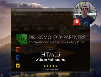 HTML5 Website Maintenance 30 mins