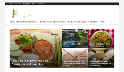 Publish Guest post on Dietoflife.com- DA33 PA42 Famous Health Website