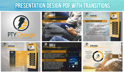 Design a presentation for your business in PDF with transitions upto to 10 slides