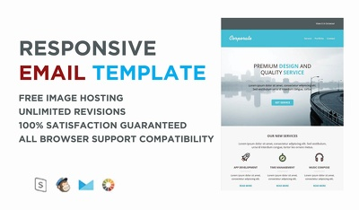 Design Responsive Html Email Template, Newsletter, Mailchimp Template