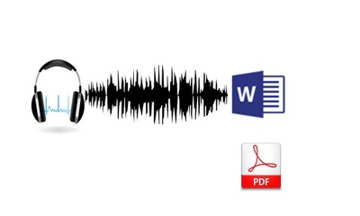 Transcribe your audio to text and convert to pdf