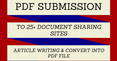 Share Content, Article Or PDF File In 50 Sites