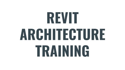 Train Revit Architecture to 4 people within your office in 2 or 3 days