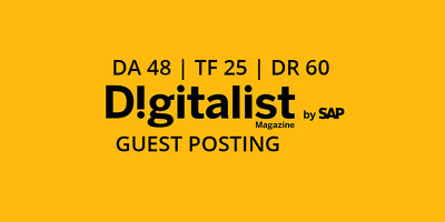 Publish a guest post on Digitalist Magazine - DA48, TF25, DR60