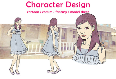 Create any 2D Character Design and Mascot Concept