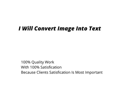 Convert Images Into Text