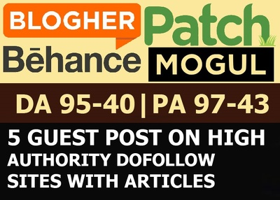 5 x High Authority DoFollow Blog Guest Post [DA 50-96|