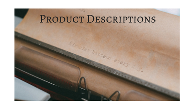 write 10 SEO Product Descriptions