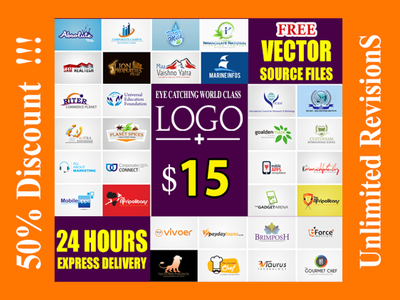 Design 4 logo with unlimited revisions in 24 Hrs