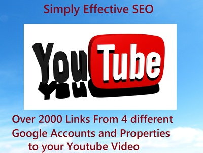 Create links from 4 Google accounts and properties to your youtube videos for