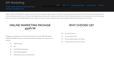 Create a COMPLETE ONLINE MARKETING PACKAGE for your company