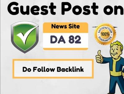 do Guest Post On High Authority News Site DA 82