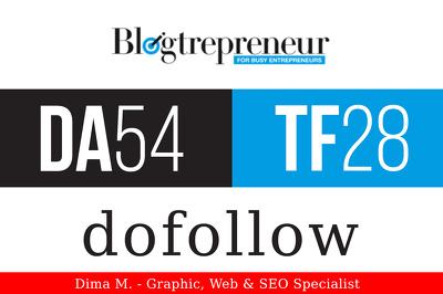 write and publish a guest post on Blogtrepreneur.com