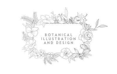 Create a botanical design for your text (floral illustration)