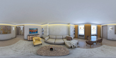Feeling your space with 360 incredible panorama of your interior