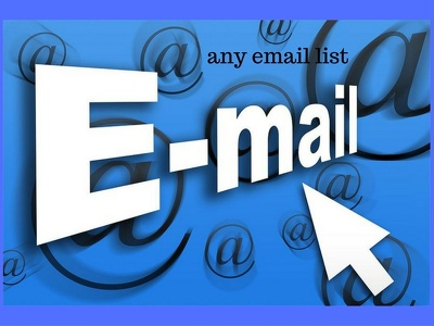 Provide you any niche  email list