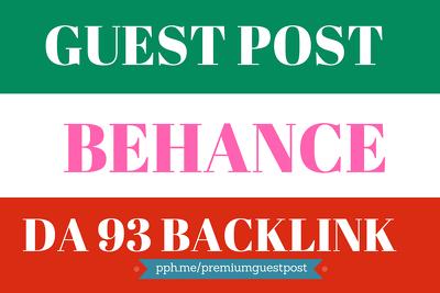 Publish a guest post on Behance.net DA 93 with Do Follow links