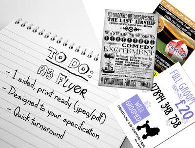 Create an A5 flyer to advertise your business/event