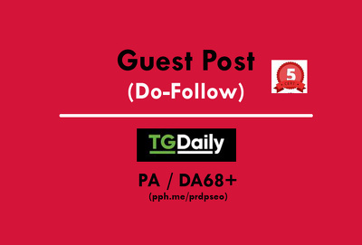 Publish an Exclusive Guest Post on Tgdaily. Tgdaily.com (Do-Follow)