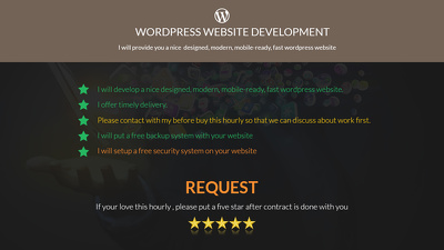 Develop a nice designed, mobile ready, responsive and fast wordpress website