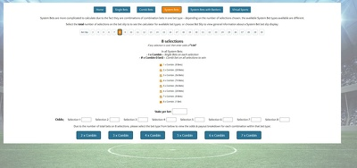 Design a fully functional Bet Calculator (web based)