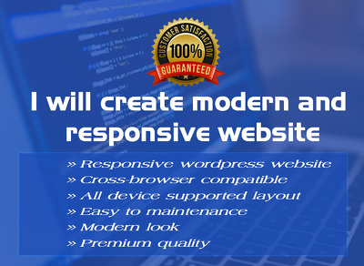 Design And Develop SEO Friendly, Responsive  WordPress Website / Blog