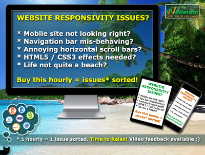 Sort out your responsive web issues (HTML5 / CSS3 / Javascript / JQuery)