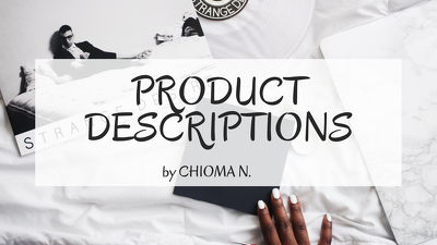 Write 20 x 100-word product descriptions on any subject